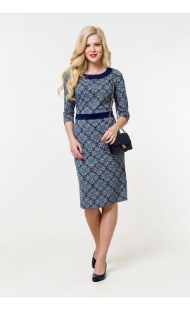 Платье сине-голубое