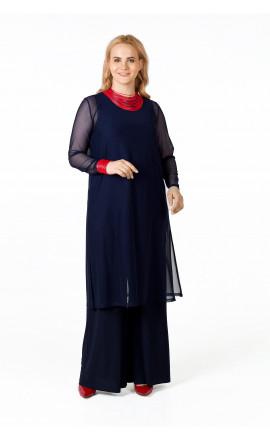 Туника сетка темно-синяя