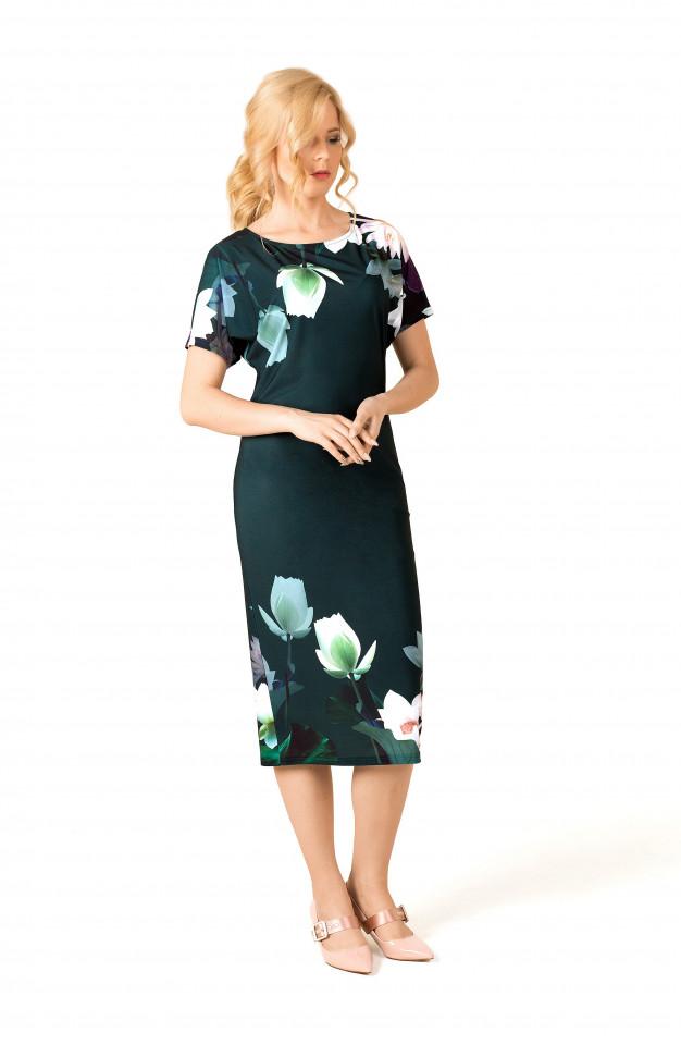 0364983152474fa Платье зеленое купон лилии, цена 3990 руб. Купить в интернет ...