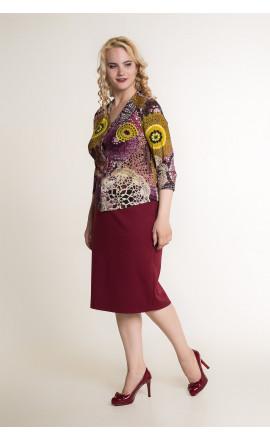 Блуза цвет сливовый
