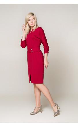 Платье темно-красное