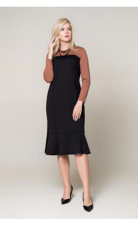 Платье черно-коричневое