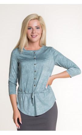 Блуза мятно-серая