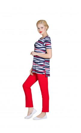 Блуза сине-красная