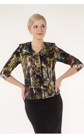 Блуза оливково-зеленая