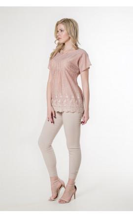 Джемпер розово-зеленый