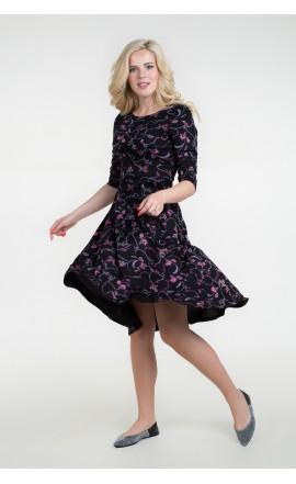Платье черно-розовое